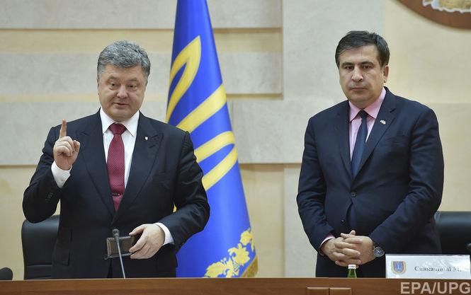 Порошенко орешении Саакашвили уйти воппозицию: Украина— демократическое государство