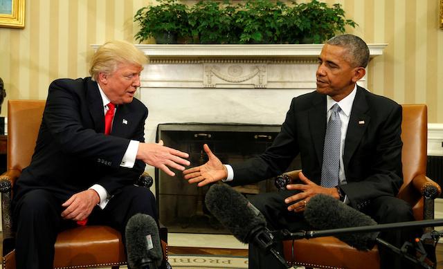 Трамп прибыл вБелый дом навстречу сОбамой