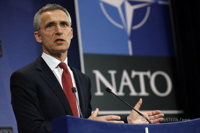 Генеральный секретарь НАТО призвал Российскую Федерацию посодействовать закончить бои вДонбассе