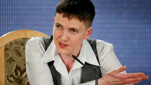 Савченко поведала опланах повозвращению Украине Донбасса