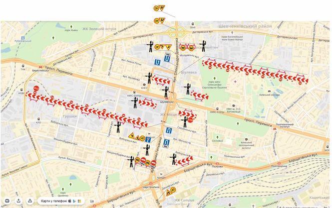 Покаким улицам объехать обваленный Шулявский мост: советы водителям