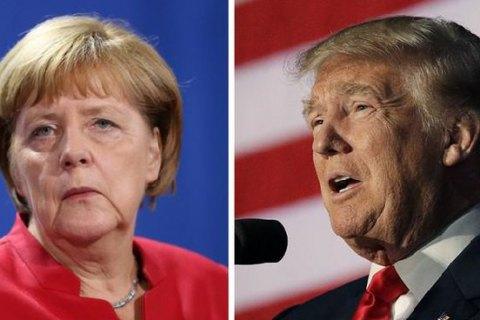 Встрече Трампа иМеркель помешала непогода