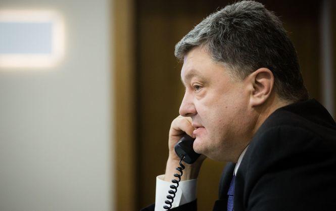 Порошенко обсудил сОлландом иМеркель ситуацию наДонбассе