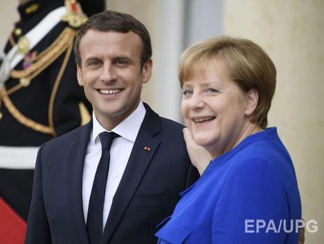 Макрон иМеркель требуют прекратить огонь наДонбассе иобменяться заключенными