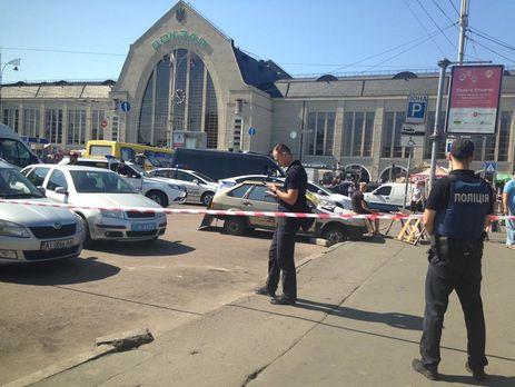 Около ж\д вокзала вКиеве вовремя стрельбы пострадали три человека