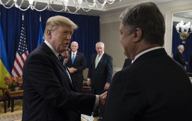 Порошенко: Трамп поддержал предложения украинской столицы омиротворцах вДонбассе