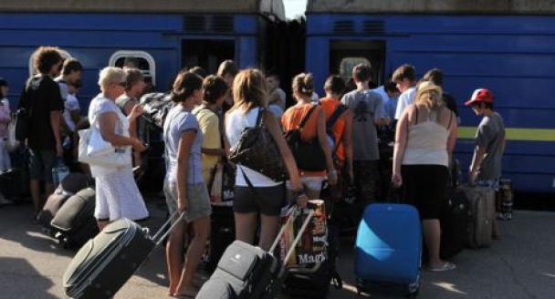 Блоьшинство переселенцев несобираются возвращаться изУкраины наДонбасс— Юрий Грымчак