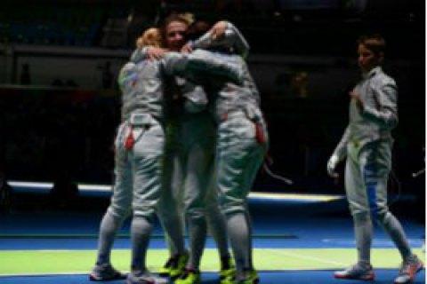 Женская сборная Украины вышла вфинал Олимпиады— Фехтование