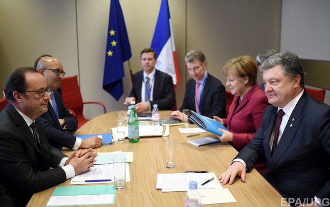 Порошенко обсудит с«нормандскими лидерами» отказ В.Путина