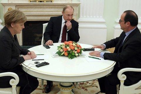 Олланд напомнил Путину онеобходимости выполнения Минских договоров