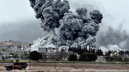 РФсбросила кассетные бомбы нагорода вСирии