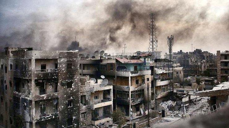 На поликлинику вАлеппо сброшены бочковые бомбы